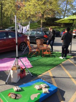Parking Day/Odometer Freeze Action in Spring Street,Williamstown - Courtesy of GTT and WCMA