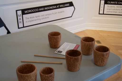 Bring Your Own Cup (B.Y.O.C) in talk reception at WCMA Rotunda